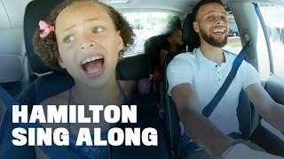 "Download Stephen Curry Belts Out ""Hamilton"" with Daughters Riley and Ryan Video"