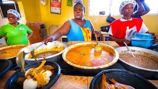 Download First Time Trying GHANAIAN FOOD!! Amazing Palm Nut Soup in Accra, Ghana, West Africa! Video