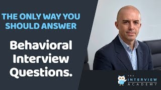 Download The Best Ways To Answer Behavioral Interview Questions / Competency Job Interview Questions Video
