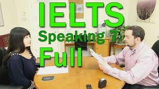 Download IELTS Speaking Band 7 Chinese Candidate FULL Video