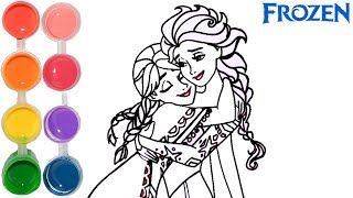 Download How to draw frozen ana & elsa   little mermaid coloring drawings   art for kids by super cool 4 kids Video