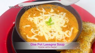 Download ONE POT LASAGNA SOUP - ون پاٹ لازانیہ سوپ - वन पॉट लज़ान्या सूप *COOK WITH FAIZA* Video