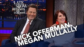 Download Nick Offerman And Megan Mullally Decide Their Celebrity Couple Name Video