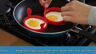 Download Set of 2 Silicone Egg Rings Video
