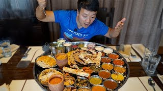 Download MASSIVE Plate of INDIAN FOOD (Thali) Over 30 ITEMS!!! Video