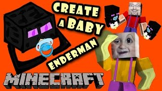 Download Minecraft: Enderbaby! How to Make a Baby Enderman w/ Chase (Pocket Edition Face Cam Tutorial DAD) Video