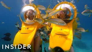Download Riding In Personal Submarines + Swimming With Stingrays | Travel Dares Ep 8 Video
