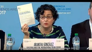 Download International Gender Champion Arancha González announces Declaration on Women and Trade at MC11 Video