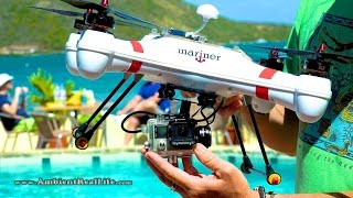 Download WORLD'S FIRST! 'Mariner' Drone with WATERPROOF GIMBAL, FPV & filming in 4K from BVI, CARIBBEAN! Video