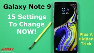 Download 15 Galaxy Note 9 SETTINGS To Change NOW Video