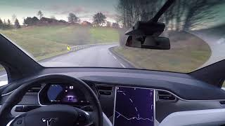 Download Tesla Autopilot on local road November 2017 Video
