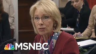 Download Betsy DeVos Finally Answers Congresswoman's Question, A Year Later | All In | MSNBC Video