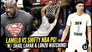 Download LaMelo Ball GOES AT SHIFTY Former NBA POINT GUARD at The Drew w/ Shaq & Lonzo Watching!!! Video