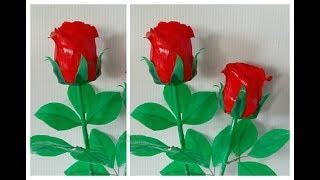 Download ดอกไม้จากหลอด ดอกกุหลาบจากหลอด by มายมิ้นท์ Rose Flower From Drinking Straws. Video