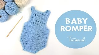 Download How To Crochet Baby Romper / Onesie   Croby Patterns Video