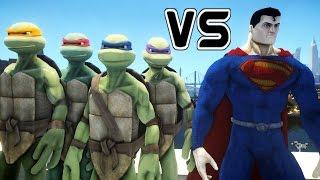 Download TEENAGE MUTANT NINJA TURTLES VS SUPERMAN - MAN OF STEEL Video