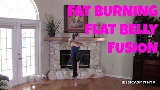 Download Fat Burning Flat Belly Fusion Workout - Full Length Workout Video for Abs, Stomach, Belly Pooch Video
