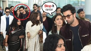 Download Ranbir Kapoor FIGHTS With Gf Alia Bhatt in Front of Ranveer Singh & Other Celebs At Delhi Airport Video