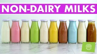 Download 10 Homemade Nut & Non-Dairy Milks, Vegan Recipes + FREE EBOOK! Video