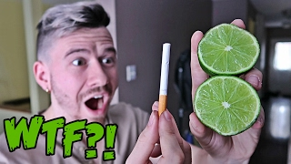 Download IMPOSSIBLE TRICK - HOW TO CUT A LIME WITH A CIGARETTE!! *TOP 5 BAR TRICK BETS YOU WILL ALWAYS WIN* Video