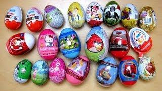 Download 21 Surprise Eggs Kinder Surprise Cars 2 Angry Birds Disney Barbie Spiderman Video