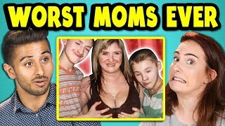 Download 10 WORST MOMS EVER PHOTOS w/ Adults (React) Video
