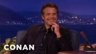 Download Timothy Olyphant Outs The One D-Bag On ″Justified″ - CONAN on TBS Video