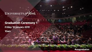 Download Winter Graduation 2019: Ceremony 1, 10.00am Friday 18th January Video