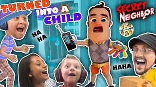 Download HELLO NEIGHBOR is a KID!! Hide n Seek 4 Player Basement Escape Game (FGTEEV Skit) Video