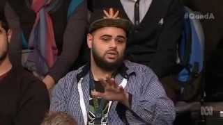 Download Zaky Mallah on Q&A ABC (whole statement and responses from the panel) Video