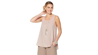 Download WynneLayers ScoopedHem Crepe Tank Video
