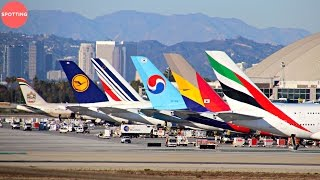 Download Los Angeles International Airport Plane Spotting from Imperial Hill | A380, 747, 777 and more! Video