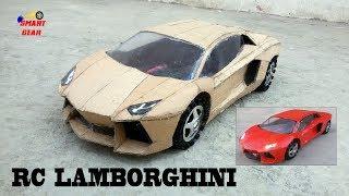 Download WOW! Super RC Lamborghini    DIY    Cardboard Lamborghini Aventador    How to make Electric Toy Car Video
