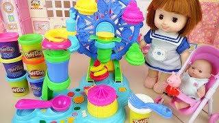Download Baby doll Play doh ferris wheel maker play baby Doli house Video