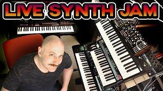 Download LIVE Synthesizer Experimentation Jam Session // Moog Grandmother, SE-02, Juno 106, Jx-3P, System-8 Video