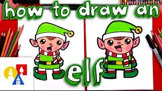 Download How To Draw A Cartoon Christmas Elf Video