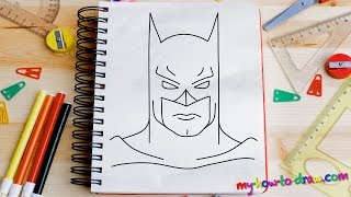 Download How to draw Batman - Easy step-by-step drawing lessons for kids Video