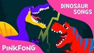 Download Spinosaurus VS Tyrannosaurus | Dinosaur Songs | Pinkfong Songs for Children Video