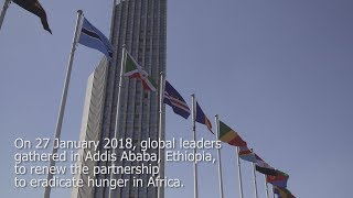 Download World leaders renew pledge for zero hunger in Africa at the African Union Video