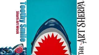 Download SUPER EASY Great White Shark Acrylic Canvas Painting Full Tutorial #Sharkweek #Sharkweek2017 Video