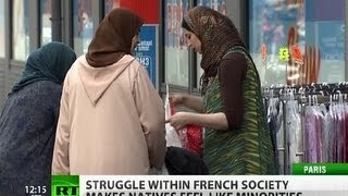 Download Inter-ethnic tension rises in France as natives fear to become 'white minority' Video