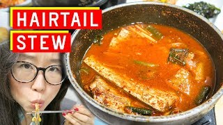 Download SPICY Korean Hairtail Stew at Namdaemun Market Video