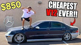 Download I Bought a TOTALED V12 Mercedes For $850 At Salvage Auction SIGHT UNSEEN! Video