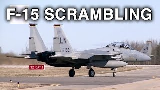 Download F-15C Pilots Scrambling, Take-off, Vertical Climb. Video