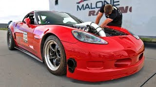 Download NEW TT Corvette 1/2 Mile Record (He's just getting started) Video