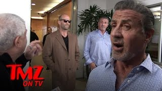 Download Sylvester Stallone & Jason Statham Do Lunch, Run Into Trouble with Vinny The Valet | TMZ TV Video