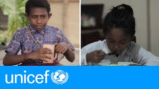 Download Two Indonesian 9-year-olds lead very different lives | UNICEF Video