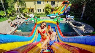 Download WORLD'S LARGEST BACKYARD WATERPARK!! Video
