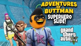 Download Adventures of Buttman #14: Superhero Slide! Video