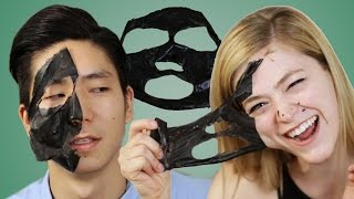Download People Extract Blackheads With Charcoal Masks Video